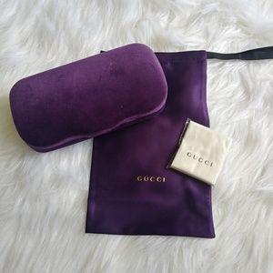 Authentic Large Gucci Sunglasses Case